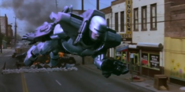 RoboCop - RoboCop using his Flight Pack as seen in the third movie