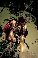 DC Comics - Azrael sitting on a branch