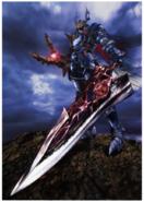 Soul Calibur - Nightmare holding a shard of Soul Edge as seen in Soul Calibur 2