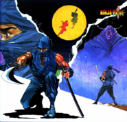 Ninja Gaiden - Ryu Hayabusa drawing the Dragon Sword as seen in this artwork
