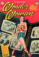 DC Comics - Wonder Woman as she appears on the front cover of the retro comics