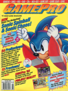 Sonic The Hedgehog - Sonic The Hedgehog doing his jump as seen on a GamePro magazine issue