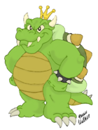 Super Mario Brothers - Bowser as he appears in the Super Mario Brothers Cartoon