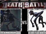Demogorgon vs a quiet place monster