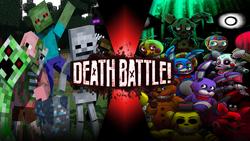 The Minecraft Mobs VS The Animatronics