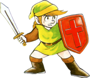 The Legend of Zelda - Link as he first appears in February 21, 1986