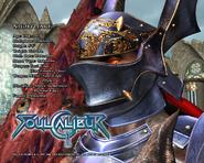 Soul Calibur - Nightmare's information as seen on Soul Calibur 3
