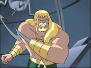 Aquaman with a hook arm
