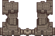 Setpiece portal frame ossein