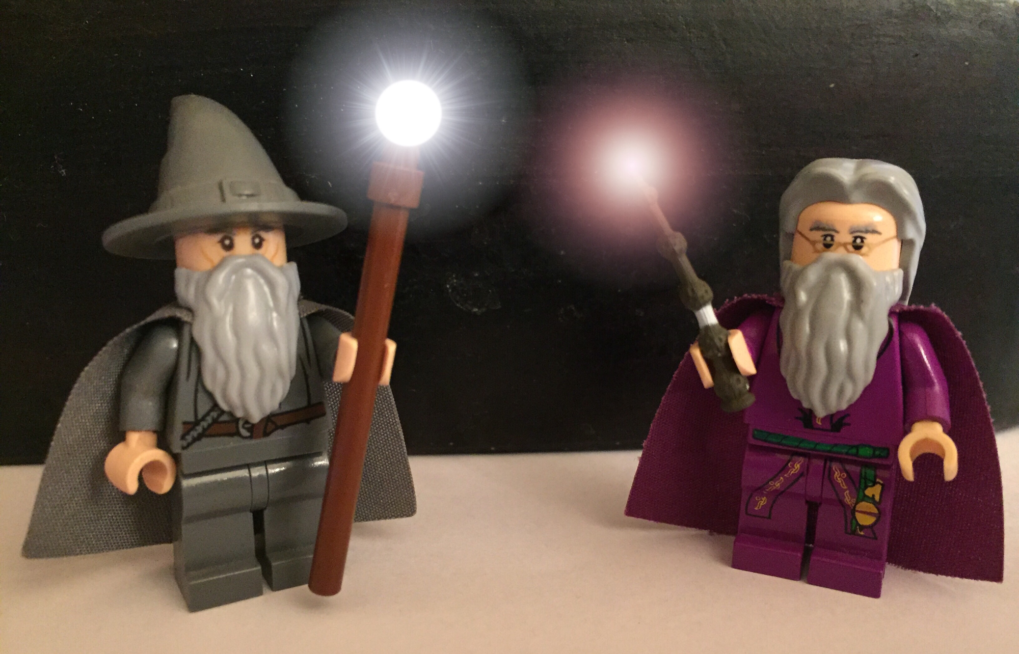 LEGO Dumbledore and Gandalf