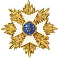 Een ster zoals die door de Ridders Grootkruis van de Nederlandse Leeuw wordt gedragen.
