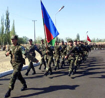 Azerbaijani soldiers at CENTRASBAT 02.jpg