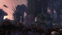 Defiance syfy terraformed new york ruins.jpg