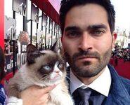 Tyler and grumpy cat