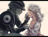 Komugi and Meruem