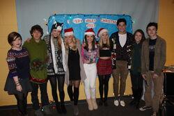 Degrassi cast at Chrsitmas party.jpg