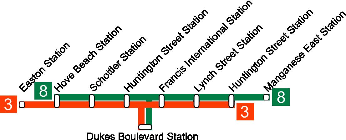 Bahnhöfe Broker Line