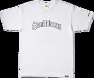 San-Andreas-T-Shirt weiß
