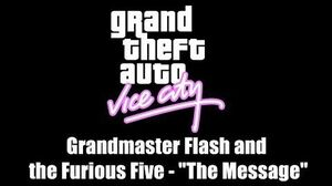 """GTA Vice City Grandmaster Flash and the Furious Five - """"The Message"""" PS2"""