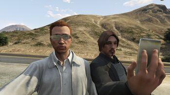 Zwei Protagonisten in GTA Online
