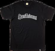 San-Andreas-T-Shirt schwarz