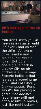 80er-Nostalgie beim Air-Hockey