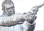 GTA IV Artbook Revolver Beta