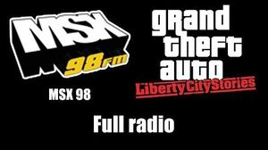 GTA Liberty City Stories - MSX 98 Full radio
