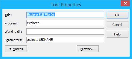 Explore Editor File Dir
