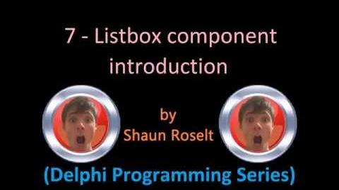 Delphi Programming Series 7 - Listbox component introduction