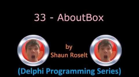 Delphi Programming Series 33 - AboutBox