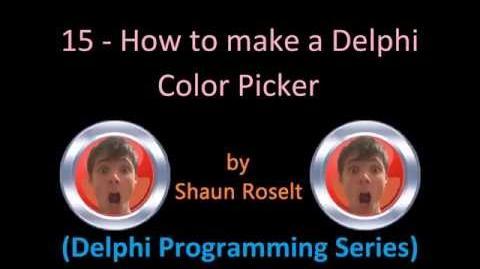 Delphi Programming Series 15 - How to create a Delphi Color Picker