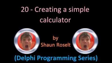 Delphi Programming Series 20 - Creating a simple calculator