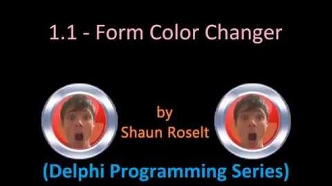Delphi Programming Series 1.1 - Form Color Changer.