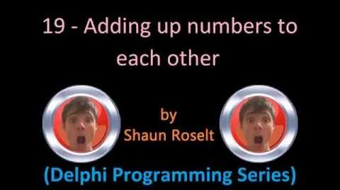 Delphi Programming Series 19 - Adding up numbers to each other