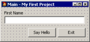 Creating Your First Application MyFirstProjectMainForm