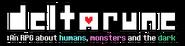 Logo deltarune with custom tagline by daneebound-dcqut1s