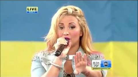 Demi Lovato - Give Your Heart A Break - Good Morning America 2012