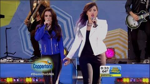 """Demi Lovato & Cher Lloyd Performs """"Really Don't Care"""" on GMA LIVE 6-6-14"""