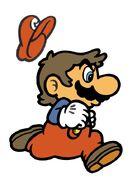 SMB Mario 4 Running Artwork