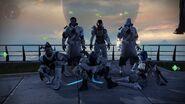 Grupo de guardianes con un shader de orbita muerta