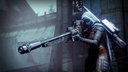 Cacciatore con fucile di precisione