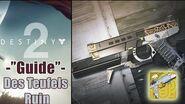 """Destiny 2 - So erhaltet ihr die Pistole """"Des Teufels Ruin"""" Exo Quest GUIDE Meinung"""