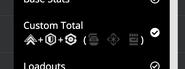 Custom Stat Total