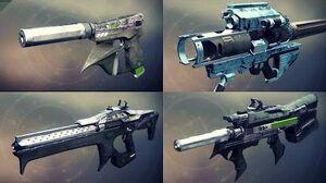 Destiny 2 Weapons Showcase - All IO Legendaries w Slow Motion (Animations & Sounds)