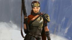 Destinyに登場する人間のキャラクターのコンセプトアート。