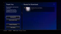 Destinyのデータ量が6.7GBあったことを示すアルファ版のダウンロード画面
