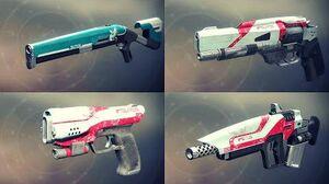 Destiny 2 Weapons Showcase - All Titan Legendaries w Slow Motion (Animations & Sounds)