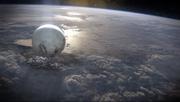 地球の表面に浮かぶトラベラー。