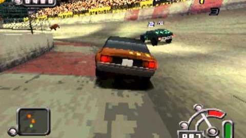 Destruction Derby Raw - Lighting gameplay